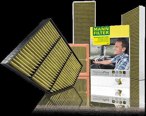 FreciousPlus MANN-FILTER: il filtro abitacolo biofunzionale per tutte le gamme