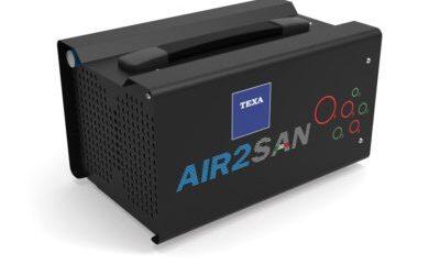 Novità Texa: AIR2 SAN sanificatore ad ozono sicuro, efficace, con rilascio di certificato